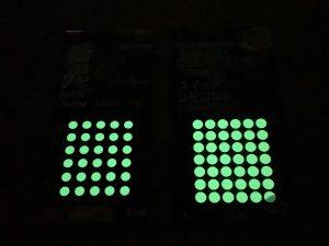 蓄光シールの明るさ比較2